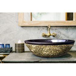 DESERT - nablatowa umywalka artystyczna ręcznie wykończona