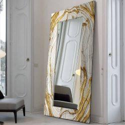 MIRROR GLAM - duża artystyczna ręcznie wykończona rama do lustra