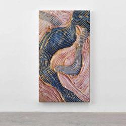 PASTEL WAVES - Wielkoformatowy obraz na płótnie abstrakcyjny art&texture™