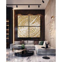 TREE RINGS - Ogromny obraz 4-częściowy - dekoracja na duże powierzchnie 2mx2m