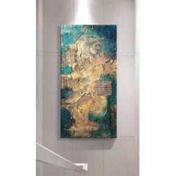 NOBLE EMERALD - Wielkoformatowy obraz na płótnie abstrakcyjny art&texture™