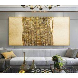 GOLDENFALL - Wielkoformatowy obraz na płótnie abstrakcyjny art&texture™