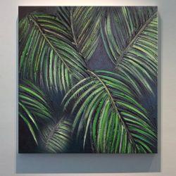 TROPICANA - obrazy z liśćmi tropikalnymi monstera dracena palma modny motyw