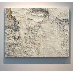 CREAM ROCK - Wielkoformatowy obraz na płótnie abstrakcyjny art&texture™