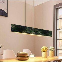 BRASILIANA - modna loftowa lampa z motywem fakturowanych liści tropikalnych