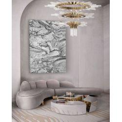 SILVER ROCK - wielkoformatowy obraz z metalicznym wykończeniem