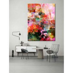 """obrazy nowoczesne malowane - """"przeplatana abstrakcja"""""""