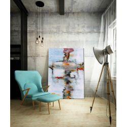 oobraz nowoczesny malowany -  duży 100x150cm