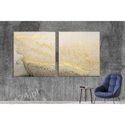 GOLD SAND - komplet 2 obrazów w stylu glamour do ekskluzywnych wnętrz