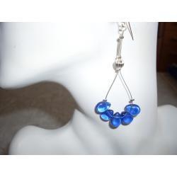 K-00078 Kolczyki z niebieskimi łezkami
