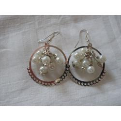 K-00108 Kolczyki z perłowym gronem