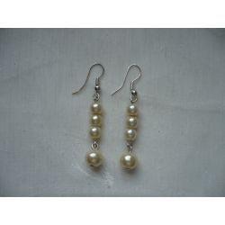 K - 000221 Kolczyki z kremowymi perełkami
