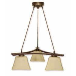 Magna lampa wisząca 3 pł. (brąz)