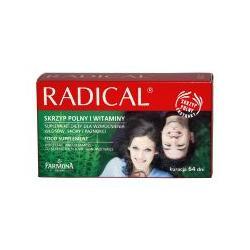FARMONA RADICAL Suplement wzm.włosy i paznokcie 64