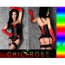 HISZPAŃSKI GORSET CHILIROSE_ 3206+ stringi roz.XXL