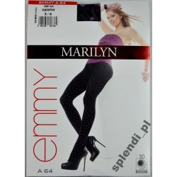 MARILYN rajstopy seksowne serduszka Emmy A64 r.3/4