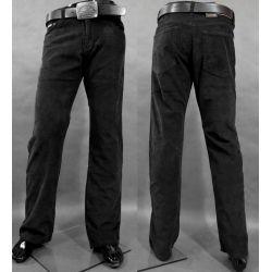 Spodnie sztruksowe proste CZARNE W35 pas 88-90