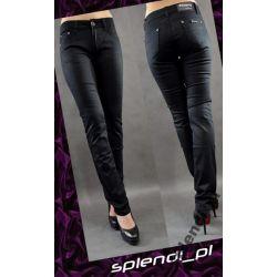 Czarne jeansy wyższy stan r.32_biodra 108_F1500