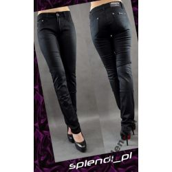 Czarne jeansy wyższy stan r.27_biodra 88-92_FA205