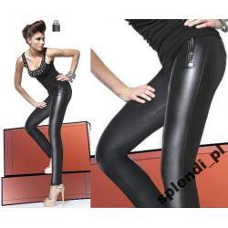 Bas Bleu ESTER legginsy spodnie skóra-latex r.3/M
