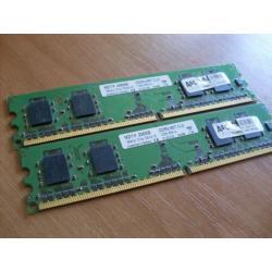 Pamiec DDR 2 2 szt 256 MB