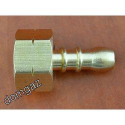 """Redukcja dwuczęściowa z małej butli GW Lewy 3/8"""" na wąż gazowy ⌀ 9 mm"""
