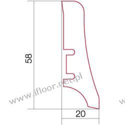 Barlinek - listwa przyścienna P20 brzoza (2200 x 58 x 20 mm)