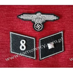 KOMPLET WAFFEN SD - Unterscharfuhrer 8 cyfra pułkowa