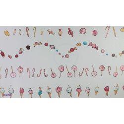 1232000 Pasek dekoracyjny  border dla dzieci COORDONNE słodycze BUNNY'S DAY OUT...