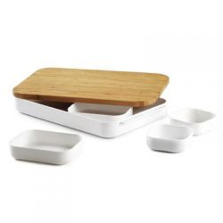 Zestaw pojemników kuchennych z deską do krojenia Bento...