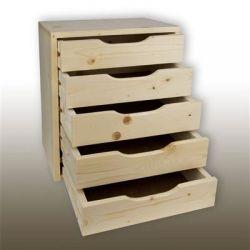 Komoda drewniana z 5 szufladami...
