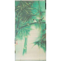 Żaluzje rolety bambusowe,60x130cm, zielone, wzór ptaki...