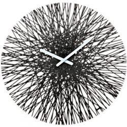 Zegar ścienny czarny Silk KZ-2328526...