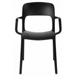 Krzesło z podłokietnikami Flexi czarne...