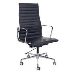 Fotel biurowy CH1191 czarna skóra...