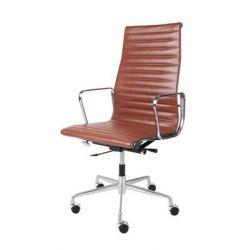 Fotel biurowy CH1191 brązowa skóra #11...