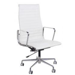 Fotel biurowy CH1191 biała skóra...