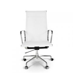 Fotel biurowy CH1191 biała siat./chrom...