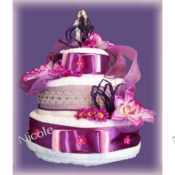 Tort z 6 ręczników: Fioletowy