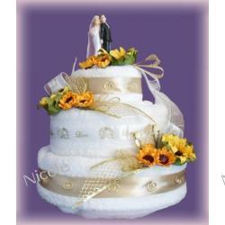 Tort z 6 ręczników: Słonecznikowy
