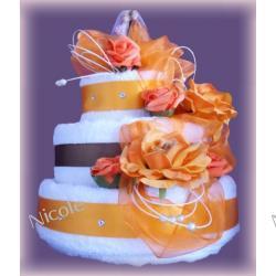 Tort z 6 ręczników: Pomarańczowy