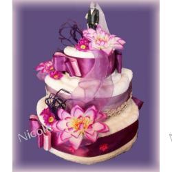 Tort z 4 ręczników: Fioletowy