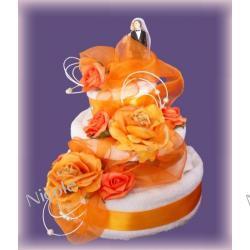 Tort z 4 ręczników: Pomarańczowy