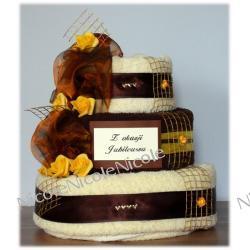 Tort z 8 ręczników: Brązowy