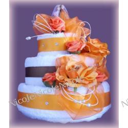 Tort z 8 ręczników: Pomarańczowy