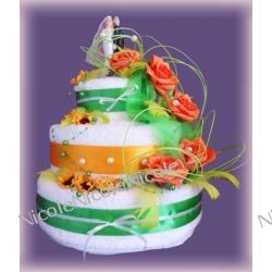 Tort z 8 ręczników: Zielony