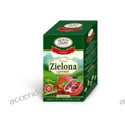 MALWA TEA HERBATA ZIELONA Z GRANATEM 20TB KOPERTY Filiżanki