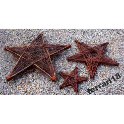 Ozdoba wiklinowa Przepiękna gwiazda Betlejemska