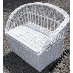 Piękna ławka ze schowkiem 80 cm bielutka Polecam Ozdoby choinkowe
