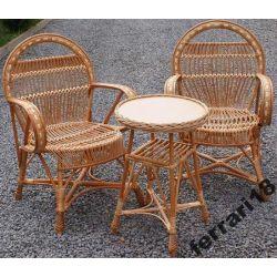 Fotele i stół meble ogrodowe Prześliczny zestaw